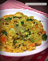 Τηγανιτό «ρύζι»  από κουνουπίδι - by https://syntages-faghtwn.blogspot.gr