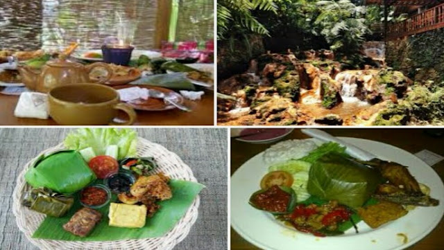 Informasi wisata tentang menu makanan kampung daun