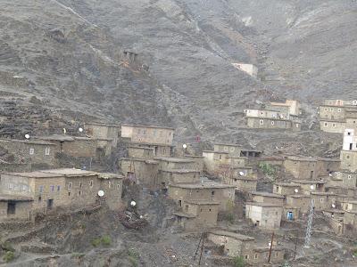 Pueblo de montaña en el Gran Atlas