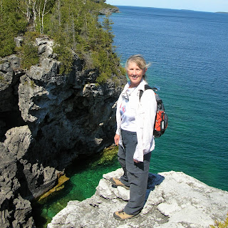 The Grotto at Bruce Peninsula National Park. Photograph of Janie Robinson, Travel Writer