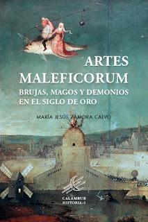 Presentación del libro. Artes Maleficorum de María Jesús Zamora.Portada del mismo. Fuente: Calambur editorial.