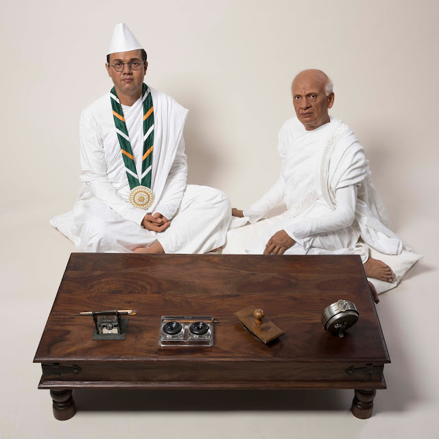 Figure of Vallabhbhai Patel with Subhash Chandra Bose