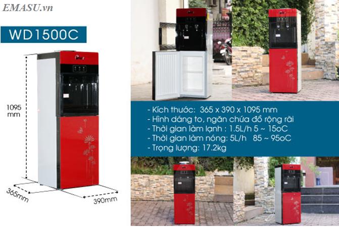 Hệ thống phân phối cây nước nóng lạnh FujiE WD1500C chính hãng trên toàn quốc