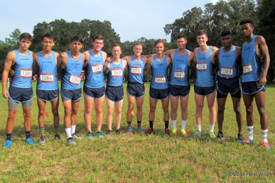 2017 Point University men's cross-country team
