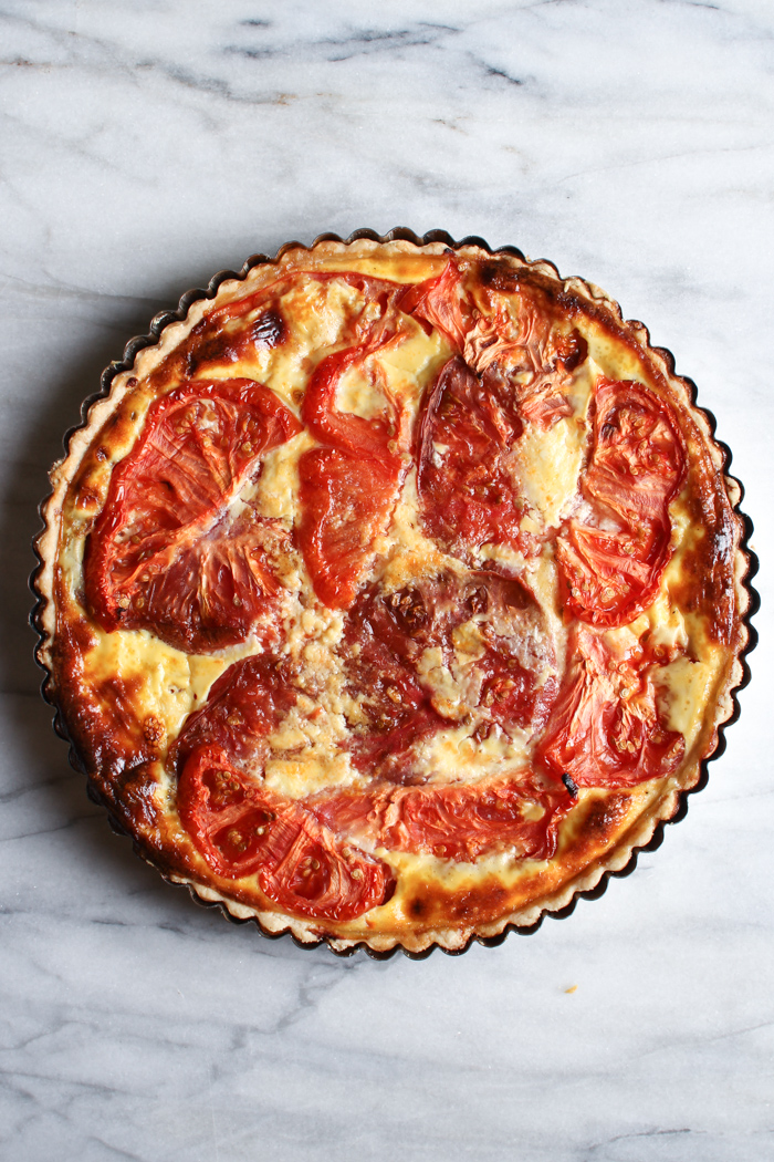 ... Foodie: Tomato and Cheddar Tart with a Savory Parmesan Crust