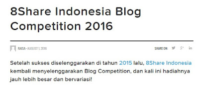 8Share Blog Competition