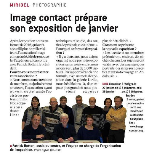 L'Expo Photo dans le journal Le progrès et le Miribel Info