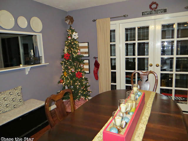 Christmas, holiday, decor, simple, blogger house, dining, centerpiece