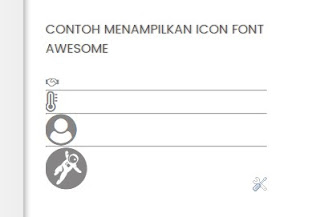 icon font awesome tentangit.com