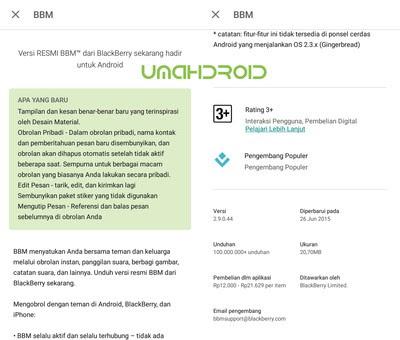 BBM terbaru material design