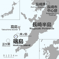 Mapa Isla de Hashima