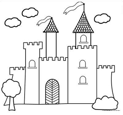 Tranh cho bé tô màu lâu đài 14