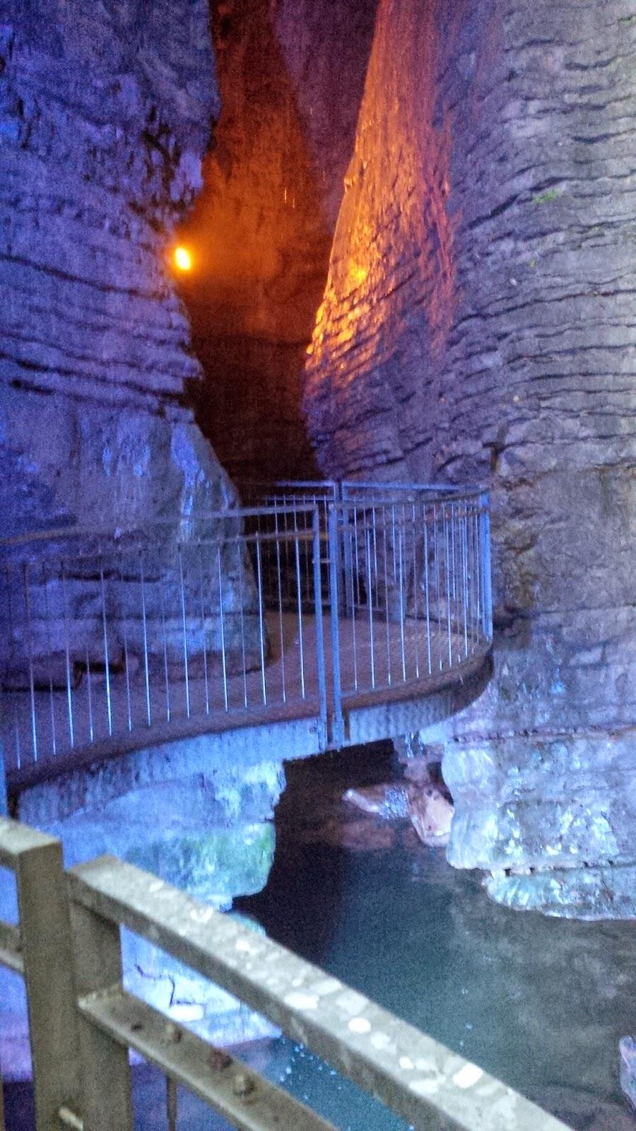 Inside the gorge of Cascata del Varone