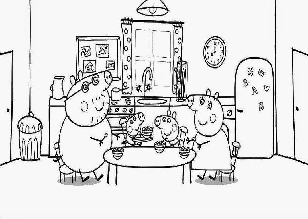 Desenhos de Peppa Pig para colorir, pintar, imprimir ou