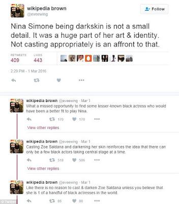 Zoe Saldana Nina Simone news