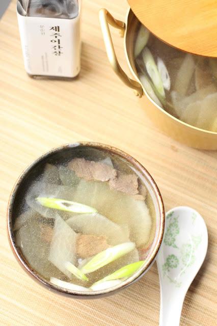soupe coree boeuf radis