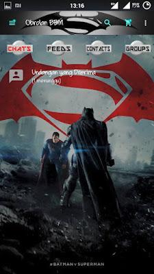 BBM Mod Superman vs Batman v2.13.0.22 Apk Terbaru Free Download