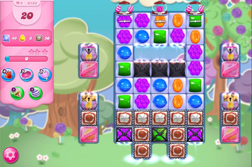 Candy Crush Saga level 6182