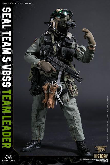 osw.zone Dam Toys 1 / 6. Skala Seal Team 5 VBSS Team Leader - 1990s Charlie Sheen Navy SEAL Figur
