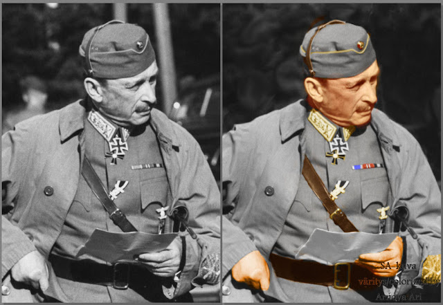 Carl Gustaf Emil Mannerheim,  color, colorization, colorized,värikuva