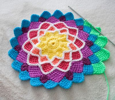 Tunisian Crochet Knit Stitch In The Round : Little Treasures: Entrelac crochet