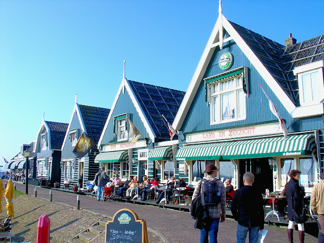 The seaside village architecture of Marken preserves its Dutch heritage dating back hundreds of years.