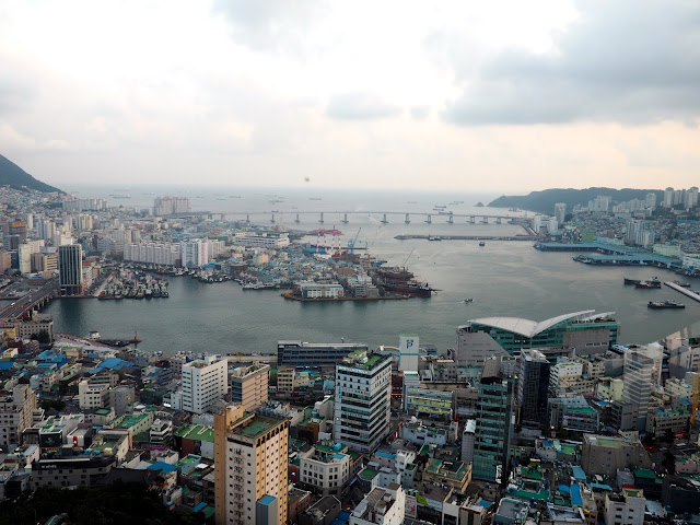 Harbour view from Busan Tower, over Nampo-dong, Busan, South Korea