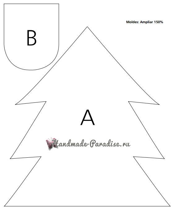 Для стула можно сшить чехол с новогодней елочкой (2)