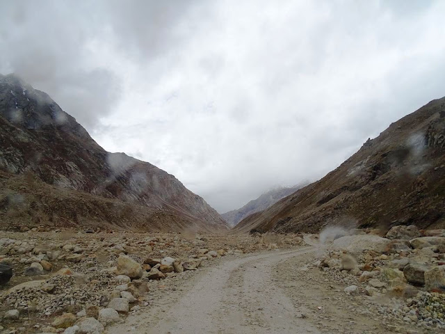Bad Road Conditions in Chandra River Valley