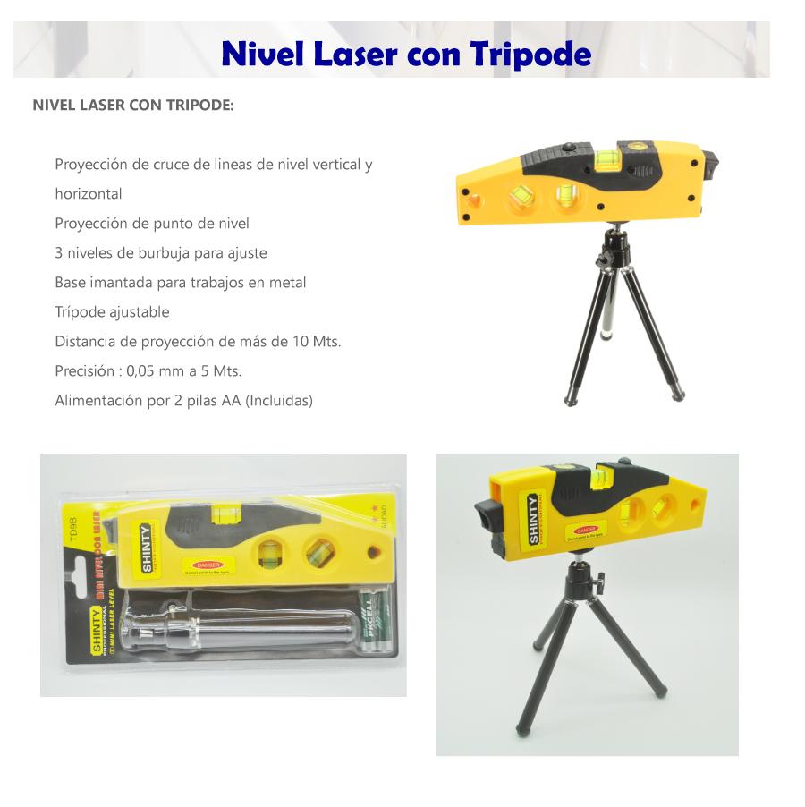 Nivel laser basico con tripode incluye pilas ver video - Nivel con laser ...