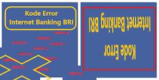 Kode Error Internet Banking BRI dan Masalahnya