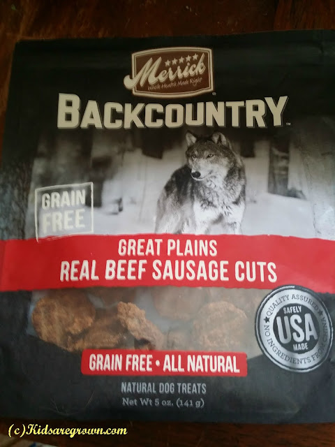 Merrick Back Country Real Beef Sausage Cut Dog Treats