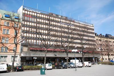 front elevation of Folkets hus, Stockholm - Sven Markelius