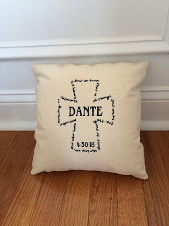 His Purpose Christening Gift Pillow