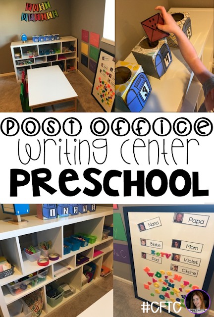 Community Helper Writing Center Post Office for Preschool