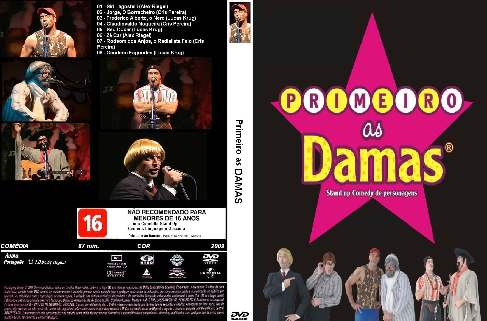 dvd primeiro as damas