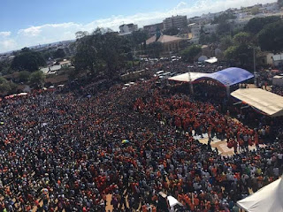 ODM rally at Tononoka exceeded the Jubilee rally held on the same ground twice. PHOTO | Courtesy