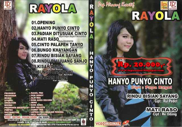 Rayola - Hanyo Punyo Cinto (Album Pop Minang Kreatif)