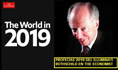33° profecía de los Rothschild en portada de the Economist para el 2019 refleja futuro negro azabache #Katecon2006