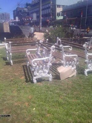 kursi taman, kursi besi tempa, kursi antik