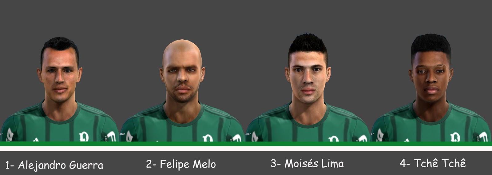 PES 2013 Facepack Palmeiras 2017 V.2 (+Tattos)
