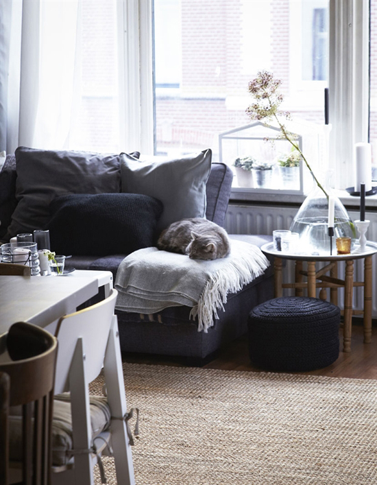 Gray living room via IKEA Family Live