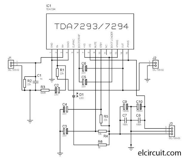 TDA7293 TDA7294 Power Amplifier Circuit