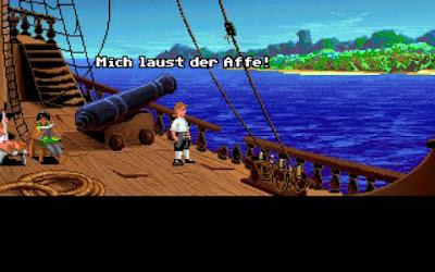 Guybrush ankert vor Monkey Island.