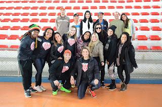 Professores de fitness com equipe da Secretaria M. de Esportes e Lazer