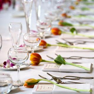 Mesa de invitados decoración