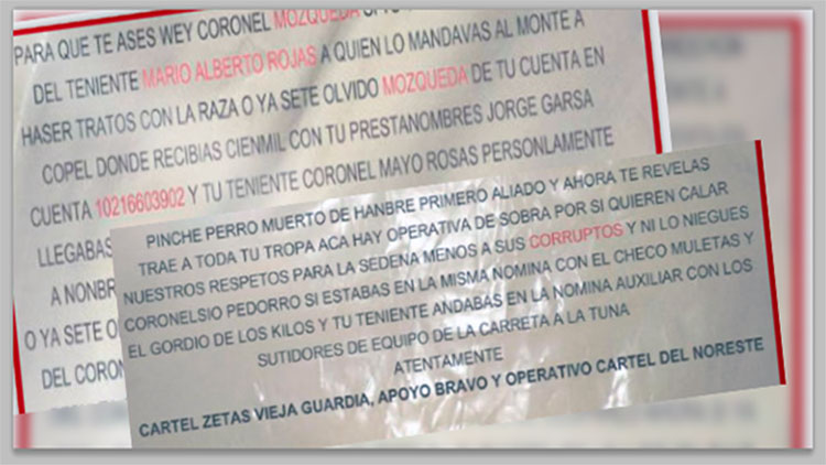 """""""Trae a toda tu tropa, hay operativa de sobra por si quieren calar"""" dicen Zetas y CDN a mandos militares que acusan de corruptos"""