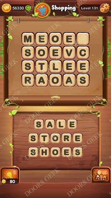 Word Bright Level 131 Answers, Cheats, Solutions, Walkthrough for android, iphone, ipad and ipod