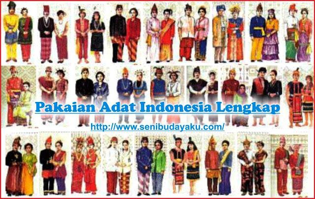 baju adat indonesia lengkap