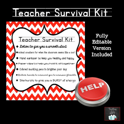 Teacher Back to School Survival Kit from Teaching Is A Gift